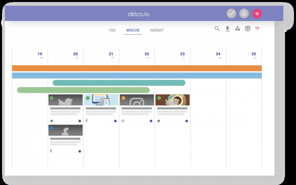 Dirico ist ein All-in-One Tool für modernes Content Marketing