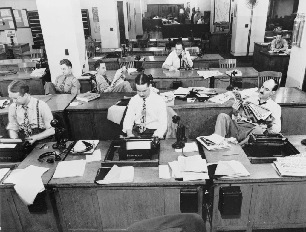 Newsrooms gibt es nicht erst seit dem digitalen Zeitalter