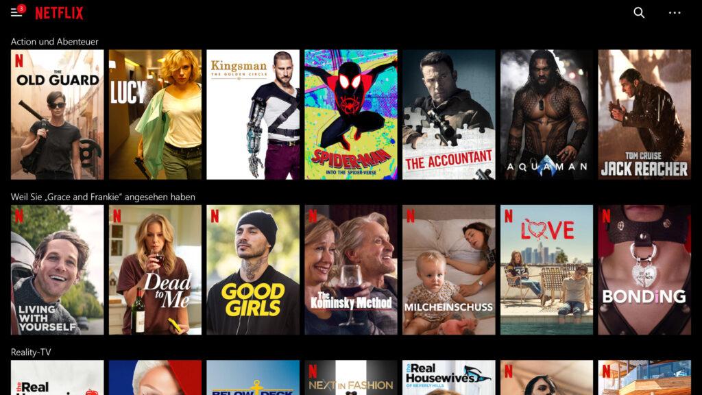 Personalisierung als Teil der Customer Experience bei Netflix