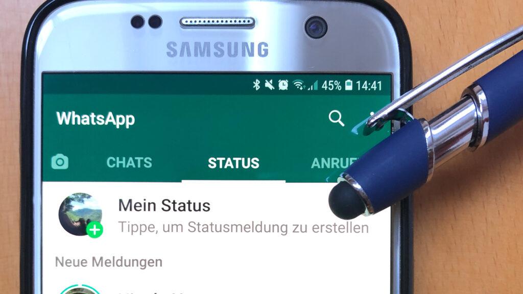 Statusmeldung in WhatsApp (Mein Status) als Marketing-Hack nutzen