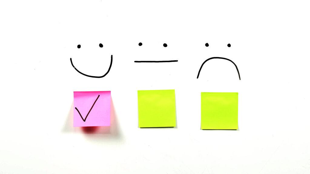 Gute Bewertungen sind das Ergebnis zufriedener Kunden und Garant für mehr Umsatz